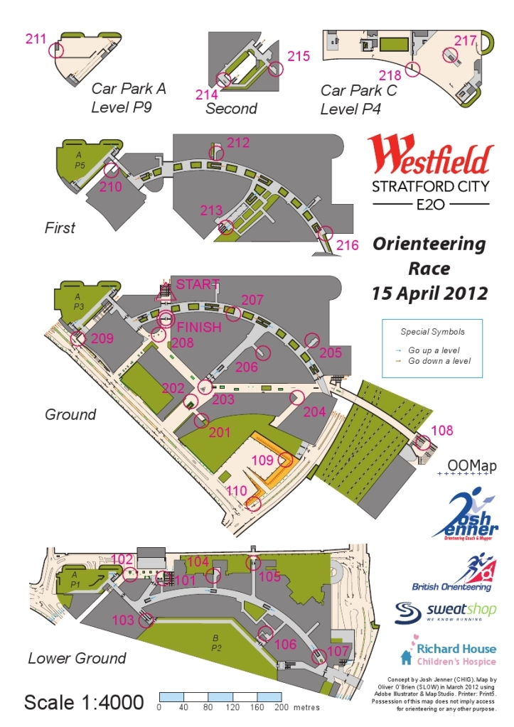 Orienteering map of Westfield